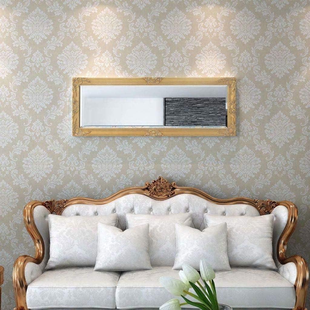 Tidyard Miroir Mural Magnifique pour Salle de Bain//Dressing Style Baroque Noir 100 X 50 cm