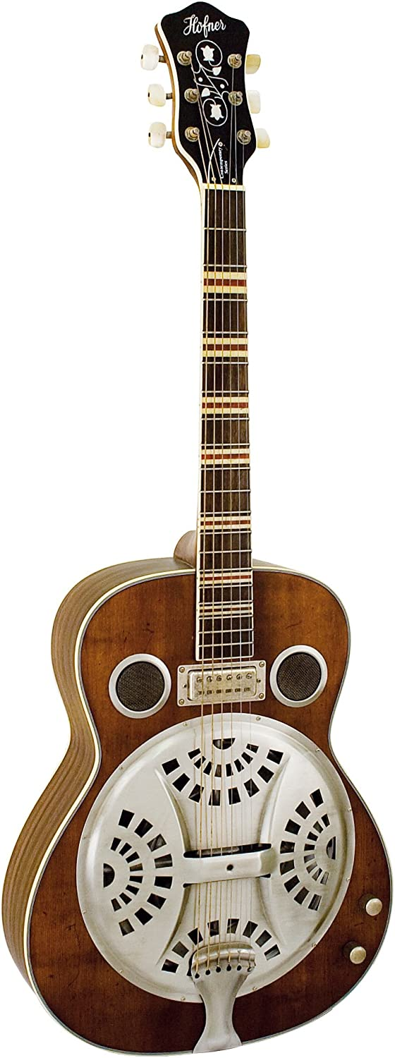Hofner Guitarra con resonador, color natural: Amazon.es ...