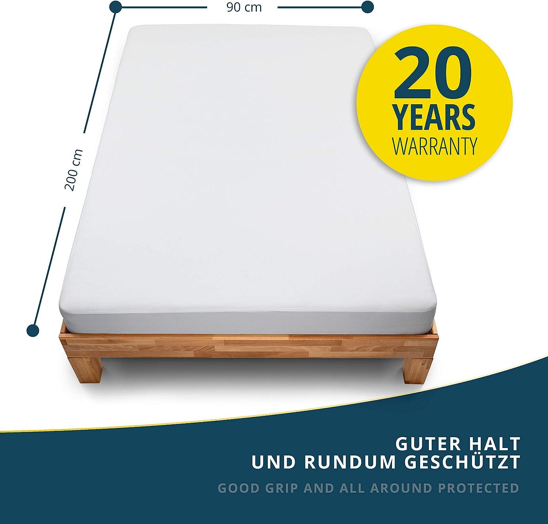 atmungsaktive Matratzenauflage Molton Standard 100 by Oeko-TEX/® sinnlein/® Wasserdichter Matratzenschoner 80 x 200 cm Made in Germany Matratzenschutz ohne Knistern