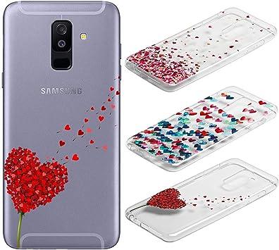 3 Pack] Funda para Samsung Galaxy A6 Plus, Weideworld 3D Patrón ...