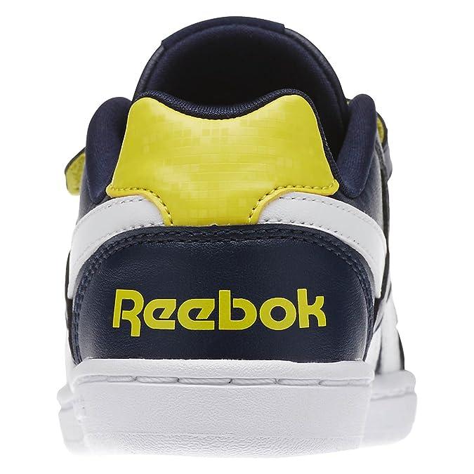 Reebok Royal Prime Alt, Scarpe da Fitness Bambino, Bianco/Blu/Rosso (White/Navy/Motor Red), 29 EU