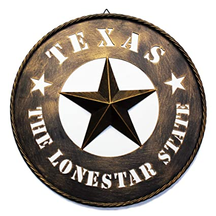 Amazon 24 Metal Barn Star Wall Decor Dark Brown Texas Lone