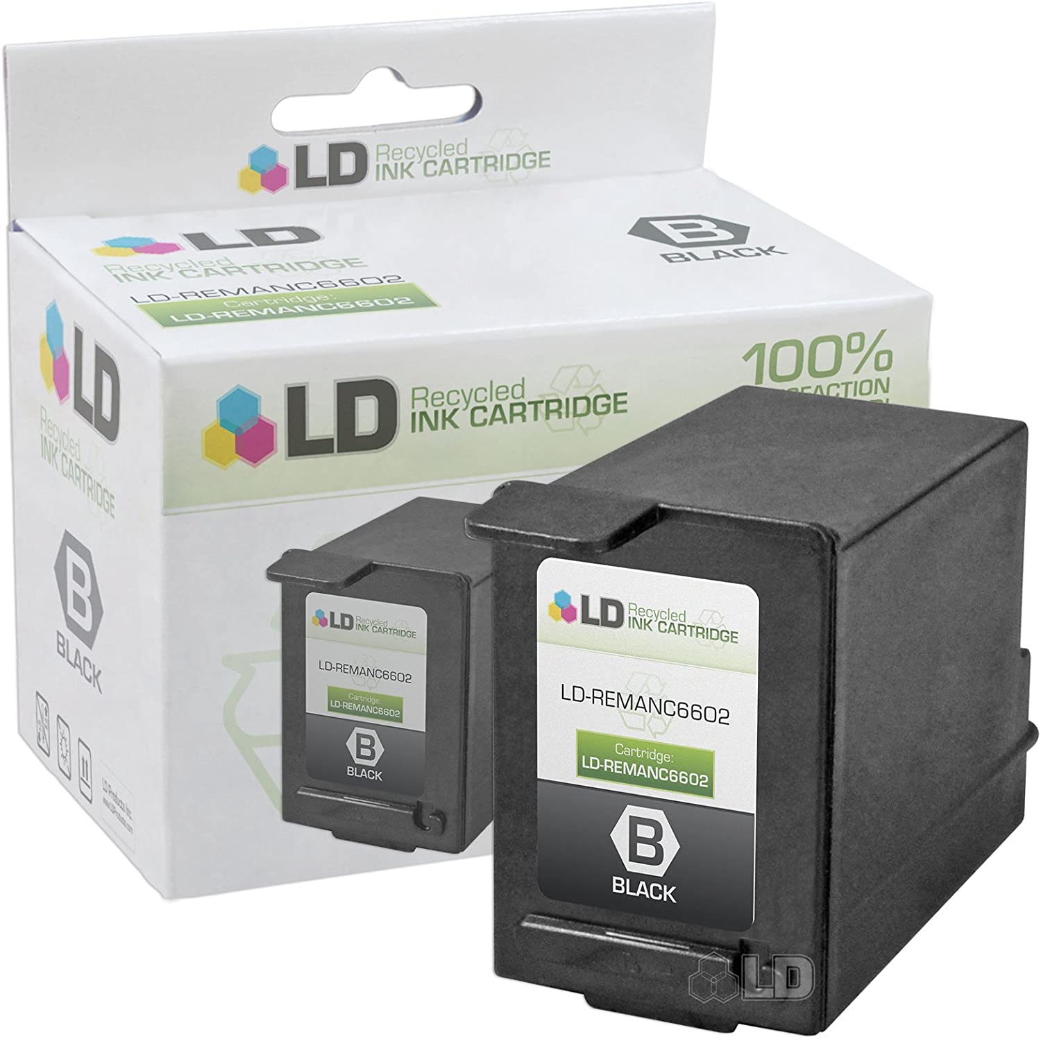LD Remanufactured Ink Cartridge Replacement for HP C6602A (Black)