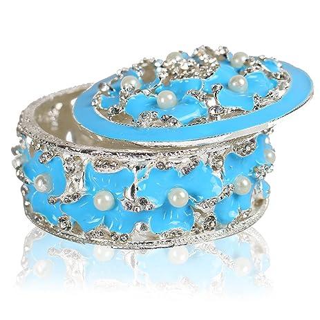Amazoncom YUFENG Hinged Trinket Box Jeweled Handpainted Patterns