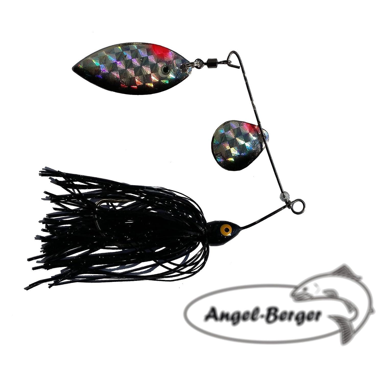 Angel Berger Spinnerbait Glitter Schwarz 16g