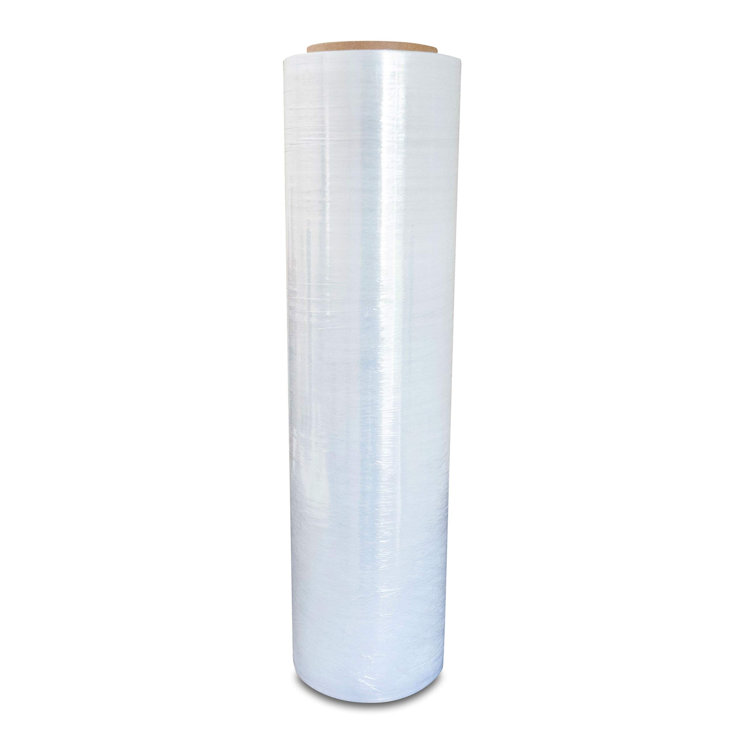 Pack of America Industrial Shrink Wrap | Plastic Stretch Wrapping Film | Packing & Moving Supplies | Pallets, Furniture, Boxes, Shipment Protection | 1 Rolls Clear 18'' x 1100 Foot 3'' Core 80 Gauge