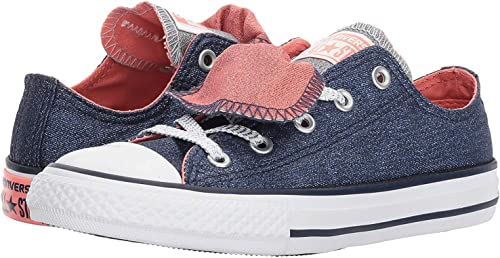 CONVERSE CHUCK TAYLOR ALL STAR DOUBLE TONGUE SHINE AND SHIMMER LOW TOP (1 Little Kid M)