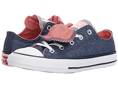 decda9b47026 CONVERSE CHUCK TAYLOR ALL STAR DOUBLE TONGUE SHINE AND SHIMMER LOW TOP (1  Little Kid