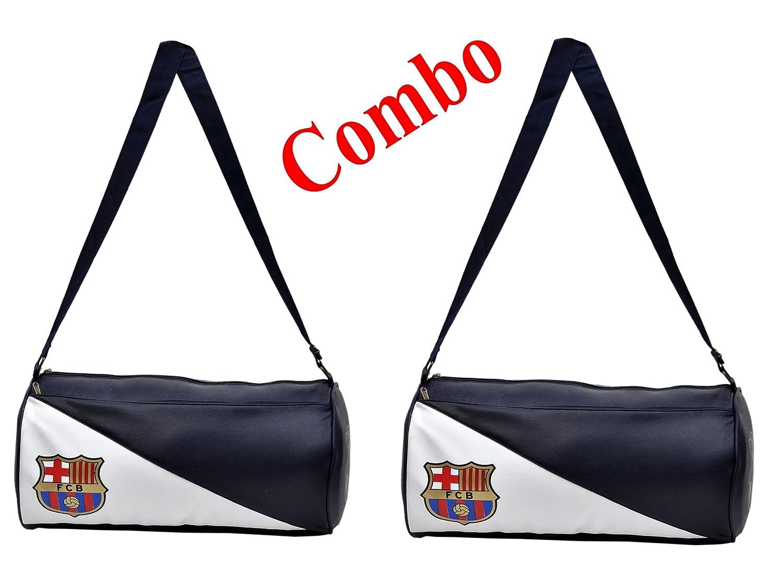 249f403b8f0e CP Bigbasket Pack of Two (2) FCB Stylish Gym Bag Duffle Bag Travel Bag  (Leatherite