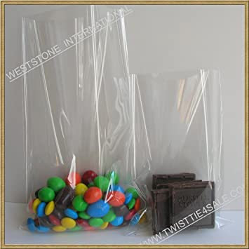 footwear low priced incredible prices Clear Cello/Cellophane Bags - Flat - 100 Bags - 3