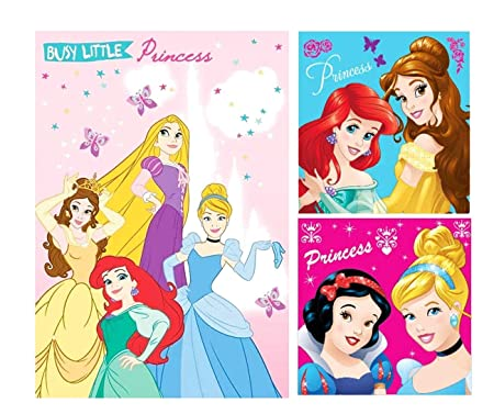 Disney Princess - Juego de Toallas (3 Unidades: 1 x Toalla ...