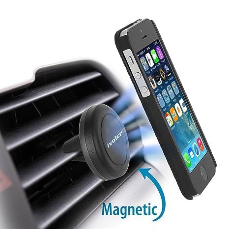 iVoler Soporte Movil Coche Air Magnético Universal Soporte de Smartphone para Rejillas del Aire de Coche para iPhone X / 8 / 8 Plus / 7 / 7 Plus / 6(s) ...