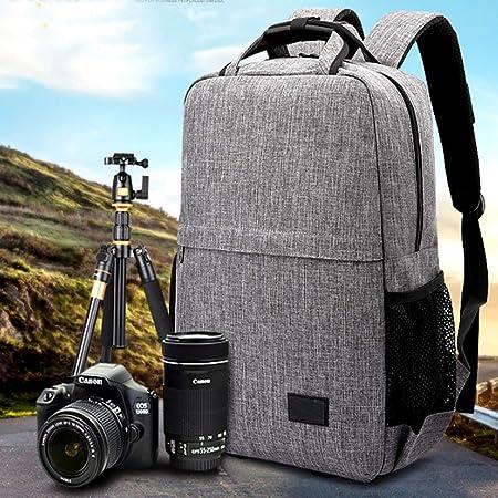 Amazon.com : Bolsa para Cámara, Mochila Casual para Cámara Al Aire Libre, Bolsa SLR Multifunción (gris, 30 cm X 18 cm X 42 cm) (Color : Negro) : Electronics