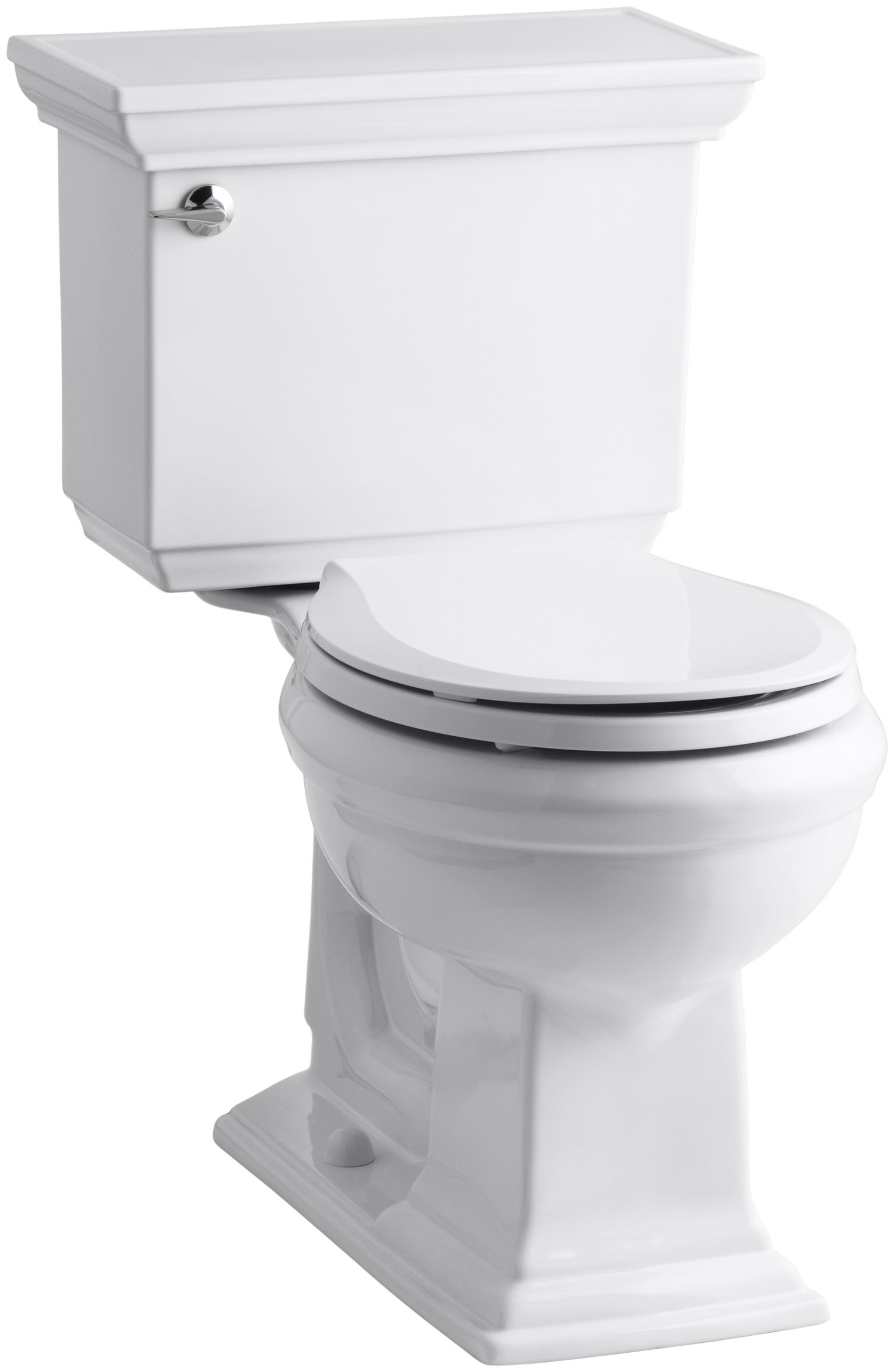 Kohler K-3933-0 Memoirs Comfort Height Two-Piece Round Front Toilet with Stately Design, White - 567212 by Kohler