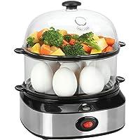 Eierkocher, PYRUS Multifunktions-Eierkocher, Doppelschicht-Kapazität eierkocher 7 eier, eierkocher testsieger eierkocher mikrowelle eierkocher edelstahl, gesundes Kochen, lecker