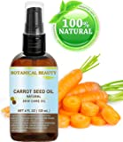 """CARROT SEED OIL 100 % Natural Cold Pressed Carrier Oil. 4 Fl.oz.- 120 ml. Skin, Body, Hair and Lip Care. """"One of the best oils to rejuvenate and regenerate skin tissues."""" by Botanical Beauty"""