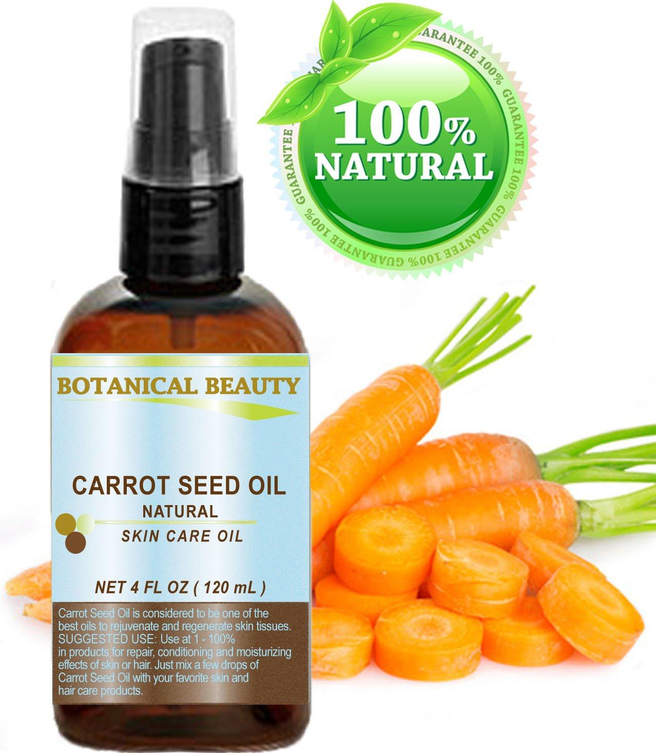 Zanahoria Aceite de Semillas 100% natural fría transporte de petróleo pressée - 120 ml. Piel, del cuerpo, des Cabello y cuidado labios.: Amazon.es: Belleza