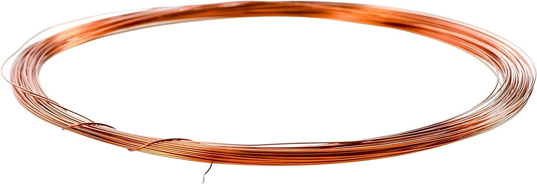 Kupferlackdraht 10m /Ø 2,50 mm CU Lackdraht Grad 2 CUL Kupferdraht 10 Meter Durchmesser 2,50 Millimeter Wickeldraht Kupfer Draht nach IEC 60317-13
