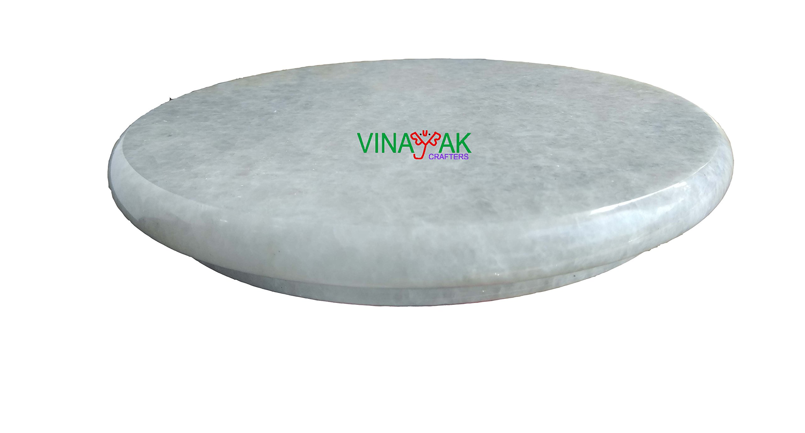 Vinayak Crafters Marble Chakla/Marble Roti Maker/Marble Rolling Board, 9 Inch product image
