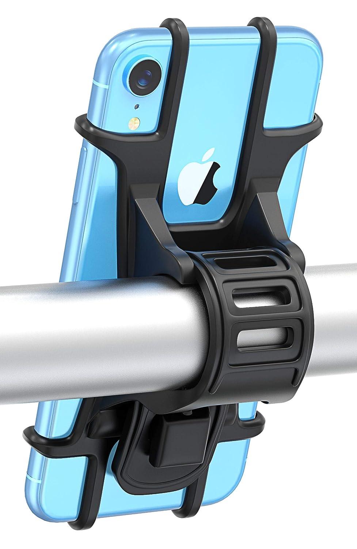 Bovon Soporte Movil Bicicleta, Soporte Universal Manillar de Silicona para Bicicleta de montaña y Motocicleta, Soporte para iPhone X 6 7 8 Plus, ...