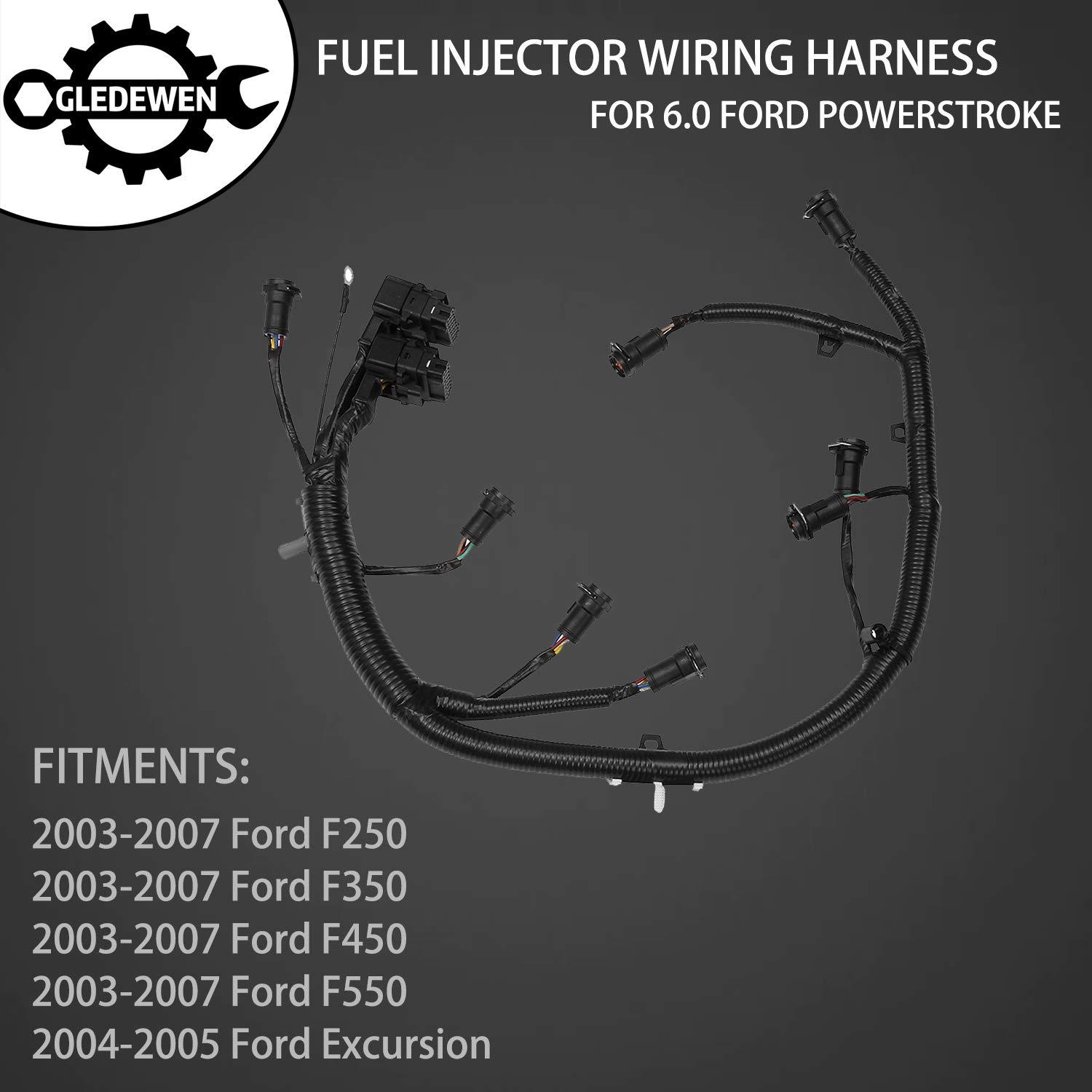 Amazon.com: FICM Engine Fuel Injector Complete Wiring ... on