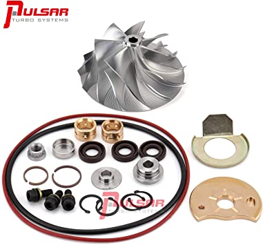 Amazon Com Pulsar 2007 5 2012 Dodge Ram Cummins 6 7l He351ve Turbo Rebuild Kit Billet Compressor Wheel Automotive