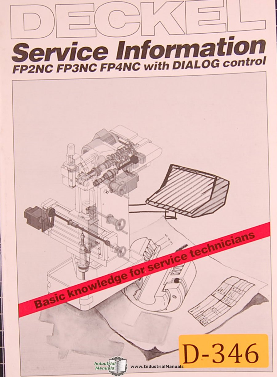 Service Information Manual With Dialog Control Deckel FP2NC FP3 and FP4