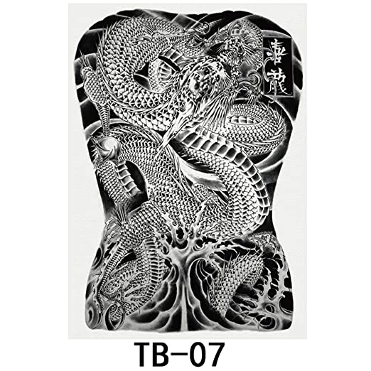 tzxdbh 2Pcs-New Big Picture Full Back Etiqueta engomada del ...
