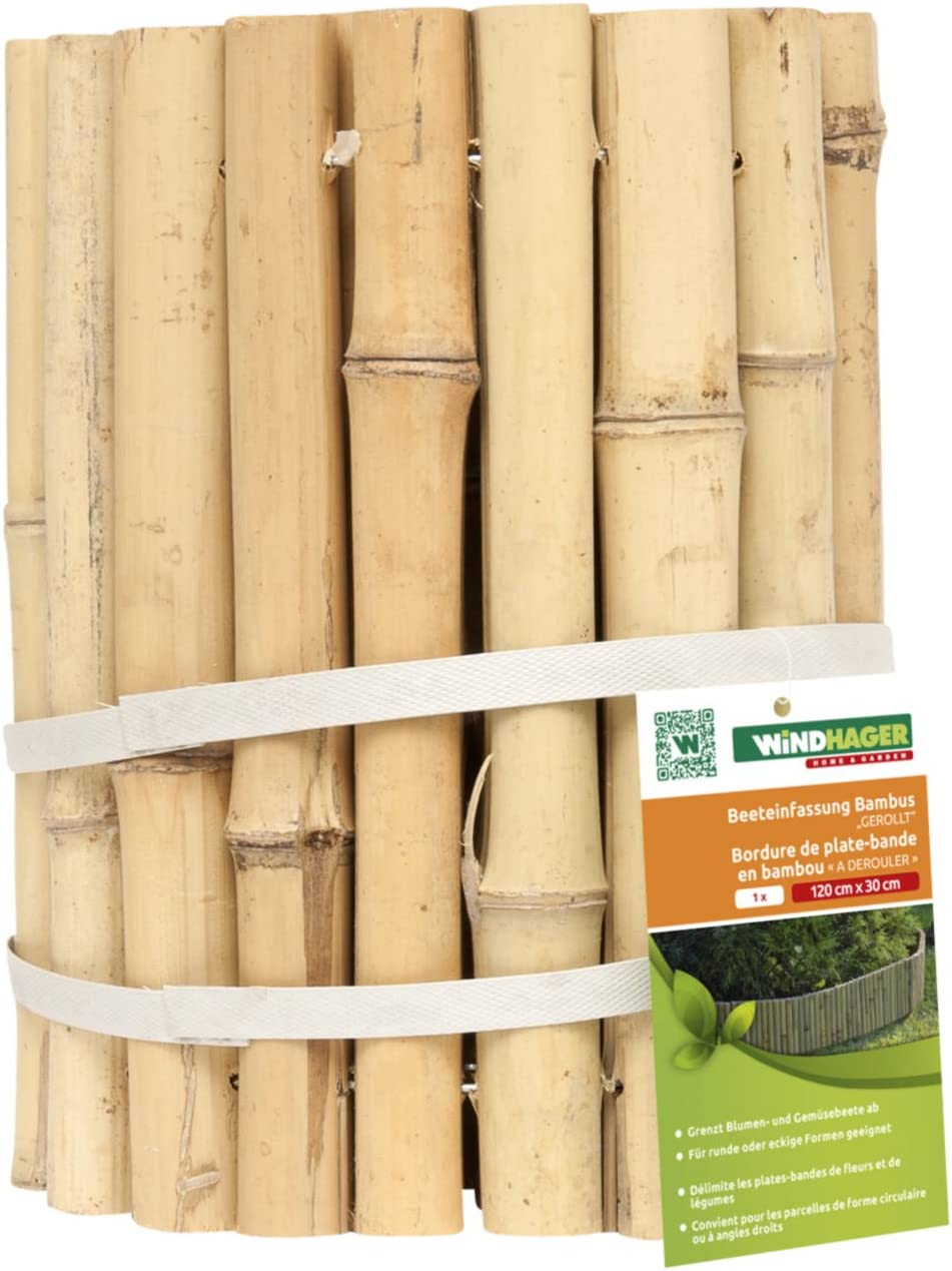 Windhager border edging bamboo roll 120 x 30 cm Amazon