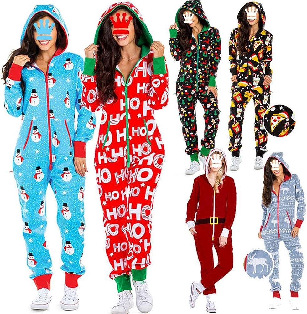 Pijama feo de Navidad para mujer, de una sola pieza, con ...