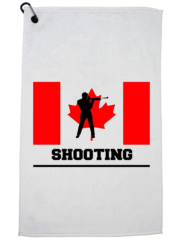 Hollywood Thread Canada Olympic - モダン ペンタスロン - フラッグ - シルエット ゴルフ タオル カラビナクリップ   B07GBKFC36