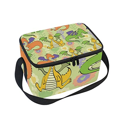 bc6dc03064ea Amazon.com: FORMRS Insulated Lunch Box Flying Dinosaur Lunch Bag for ...