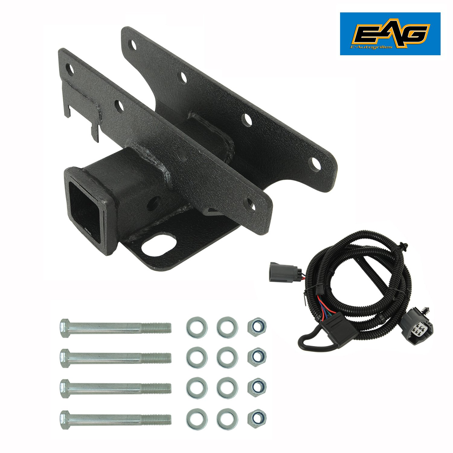 Eag 07 18 Jeep Wrangler Jk Receiver Hitch Class Iii 2 Tailer Tow Wiring Harness