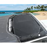 Bentolin Front Sunshade Mesh Sun Shade Top Cover Provides UV Protection for 2007-2017 Jeep Wrangler JK JKU & Unlimited 2/4 Door
