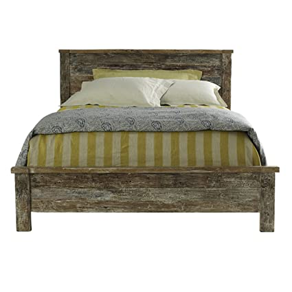 Merveilleux Reclaimed Wood Bed Frame Queen