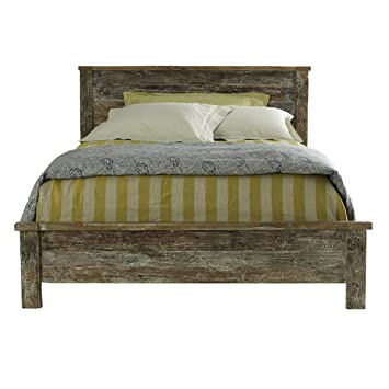 online store e0ad1 b0e18 Amazon.com: Reclaimed Wood Bed Frame Queen: Kitchen & Dining