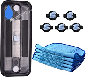 Replacement Parts Kit - Reservoir Pad 5 PCS Washable Mops 5 PCS Wick Caps for iRobot Braava 320 380 Mint 4200 5200 Mopping Robot - Vacuum Cleaner Replenishment Reservior Mop Wick Accessories
