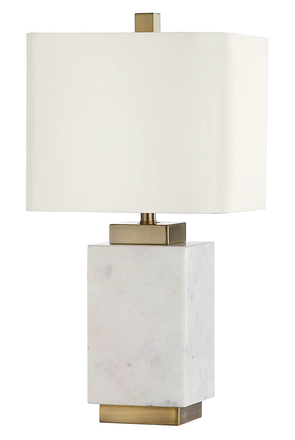 Mariana Home 830032 Audra Marble Table Lamp White Brass Amazon Com
