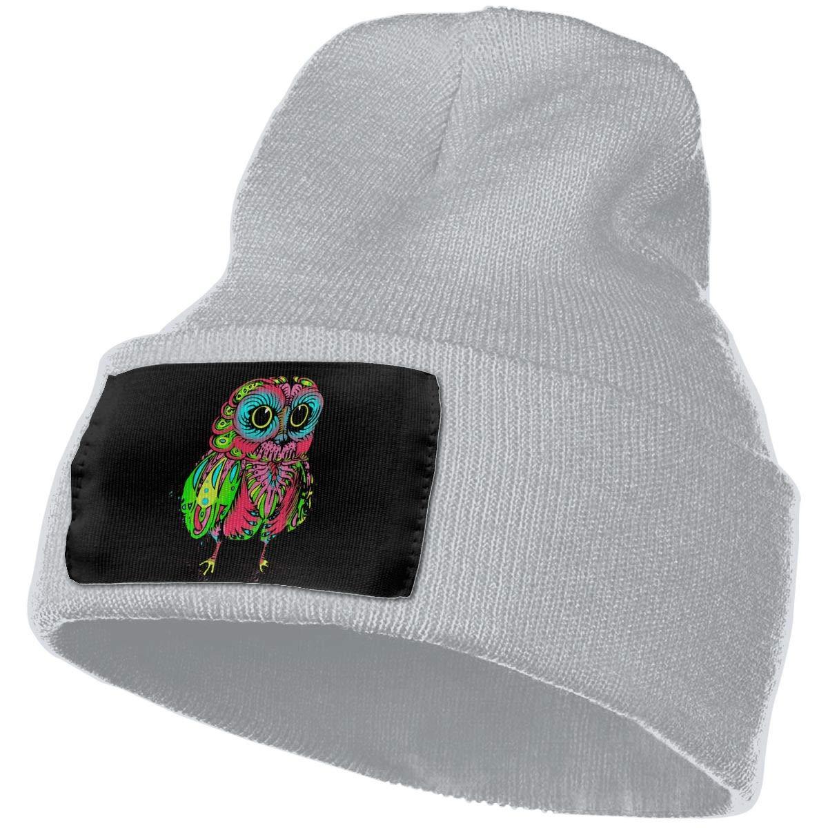 Unisex 100/% Acrylic Knit Hat Cap Psychedelic Owl Original Beanie Hat