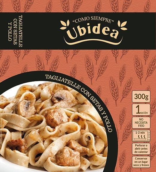 Tagliatelle con Setas y Pollo - Ubidea - 3 platos