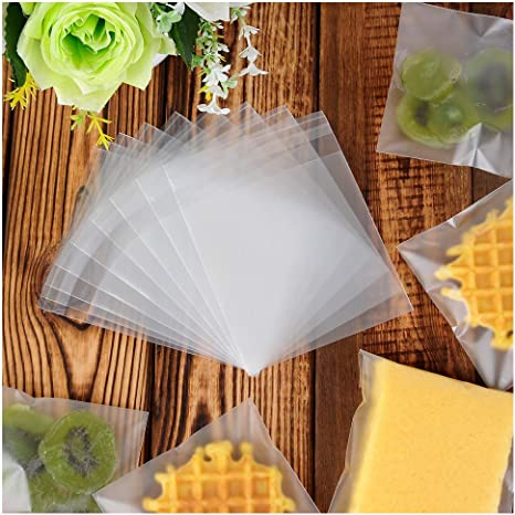 SWEETIE BAGS,WEDDING FAVOUR BAGS ROSE FLOWER CELLOPHANE FAVOUR BAGS,COOKIE BAGS