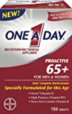 One A Day Proactive 65+ Mens & Womens Multivitamin, Supplement with Vitamin A, Vitamin C, Vitamin D, and Zinc for Immune…