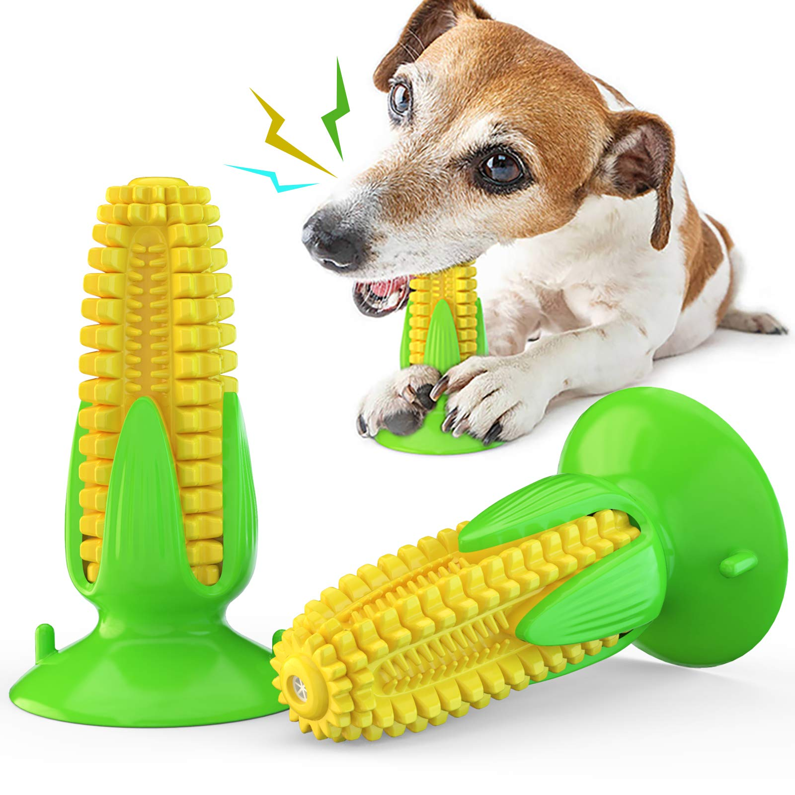 USWT Corn-Shaped Squeaky Dog Toys Puppy Toys Dogs Supplies Doggy Chew Cotton