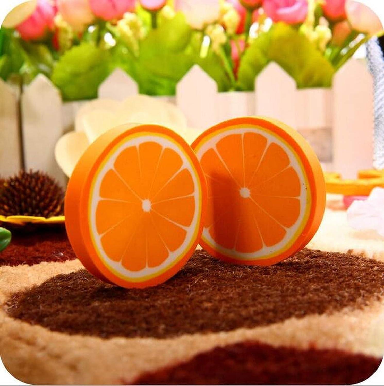 1pcs/pack lindo diseño de frutas frescas gomas de borrar Kawaii sandía naranja Kiwifruit gomas de borrar regalo premio oficina escuela suministros, color NO3 Orange talla única: Amazon.es: Oficina y papelería