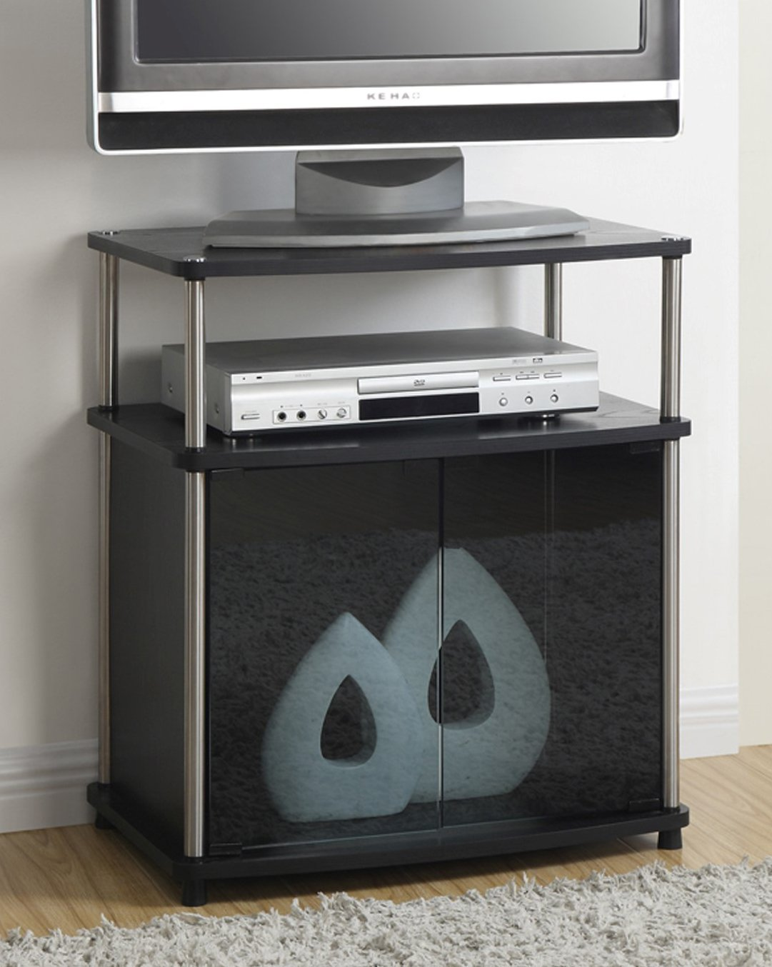 Amazon Com Convenience Concepts Designs2go Tv Stand With Cabinet