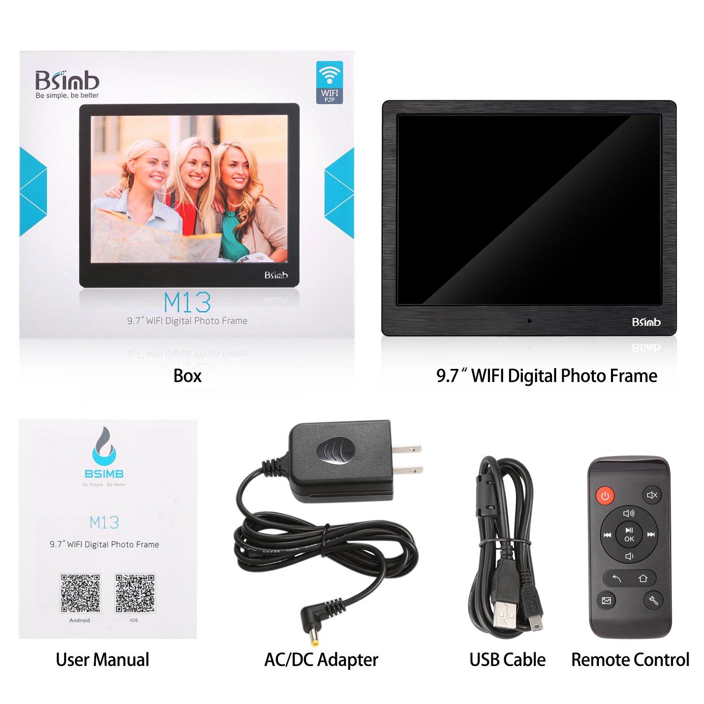 Digital Photo Frame 10 Inch FHD Video (1080P ) 4:3 Hi-Res IPS LCD ...