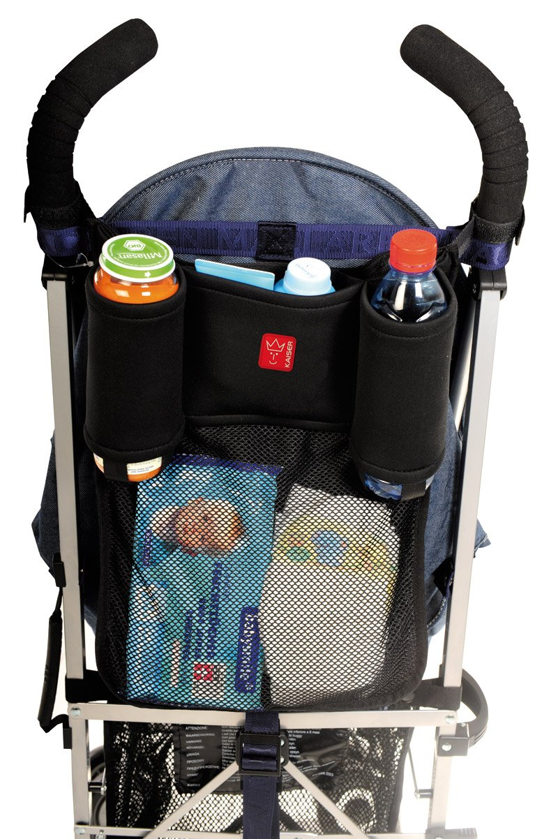 Kaiser Toogoo 6575325 Pushchair Organiser Storage Net Pouch with Holders for 2 Bottles