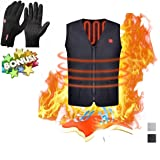 Electric Heated Vest, Washable Size Adjustable USB Charging Heated polar fleece Clothing Winter Warm Gilet