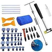 BMOT Dellen Reparatieset voor uitdeukgereedschap, lakvrije set, 49 stuks, lakvrije deuken, reparatieset, deuken…