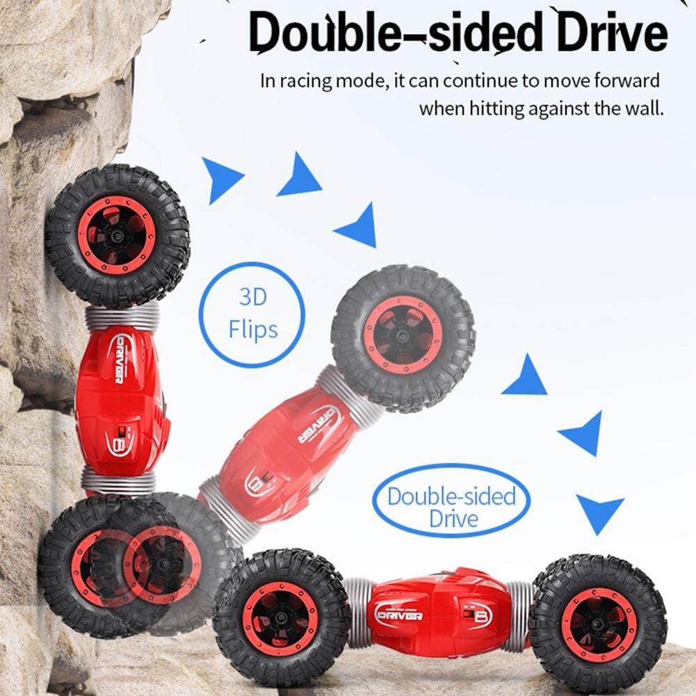 MYYINGELE RC Voiture Télécommandée, 2.Ghz 4WD Jouets Enfants Hors Route Stunt Véhicule Transformation Double Face Buggy Camion Radiocommandée pour Enfants et Adultes Blue